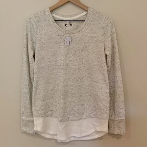 NWT Maurices Lightweight Sweatshirt Lace up back